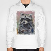 raccoon Hoodies featuring Raccoon by Michael Creese