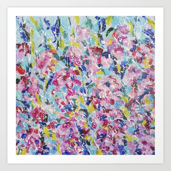 Abstract floral painting 2 Art Print