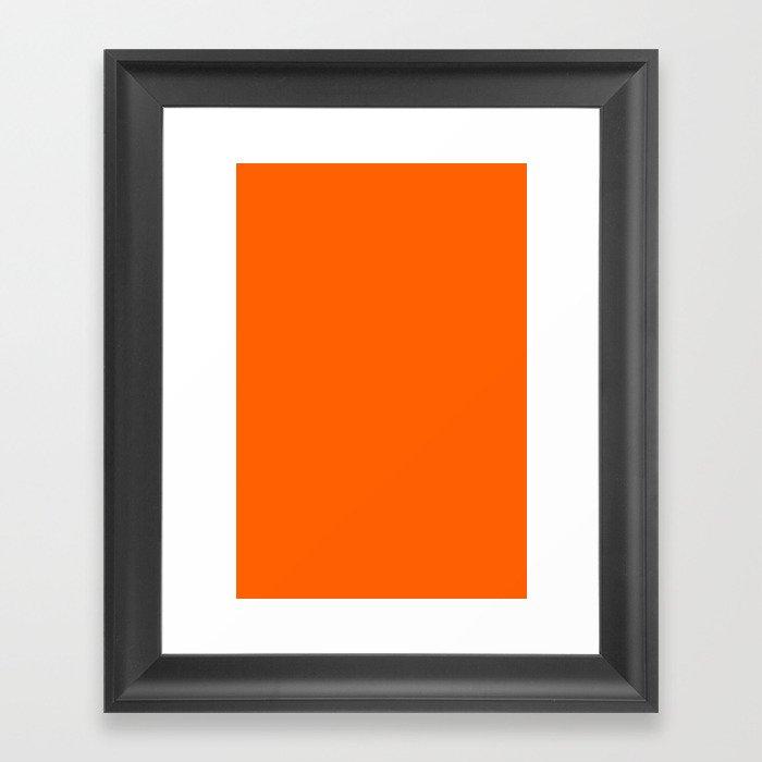Solid Orange Gerahmter Kunstdruck