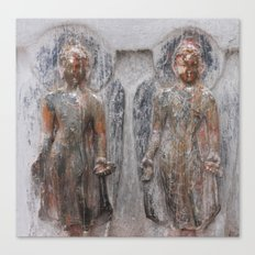 Bodhinath Shrine - Two Figures Canvas Print