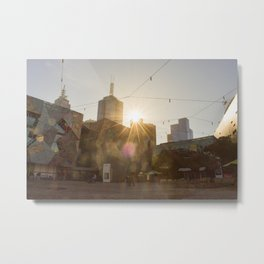 Federation Square Melbourne Metal Print