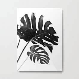 Tropical Monstera Finesse #2 #minimal #decor #art #society6 Metal Print