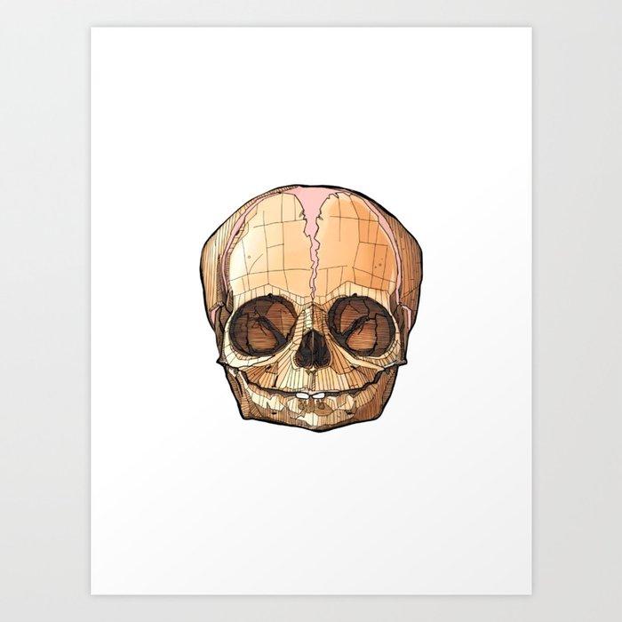 Baby Skull Art Print By Zmainsky Society6