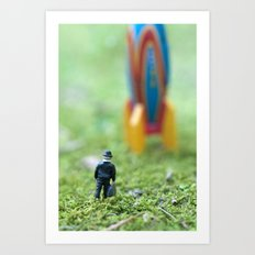 Rocket Man Art Print