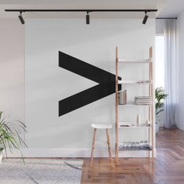Greater-Than Sign (Black & White) Wall Mural