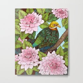 Whistling Fruit Dove in Spring Metal Print