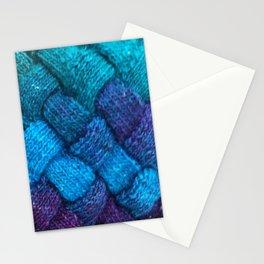 Blue Entrelac Stationery Cards