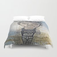 potato Duvet Covers featuring Small Potato  by Ethna Gillespie