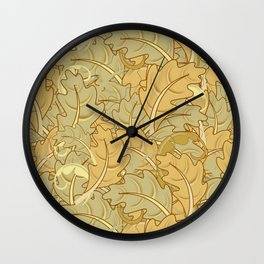 A Surfeit of Leaves Wall Clock
