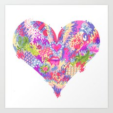 Radioactive Heart Art Print