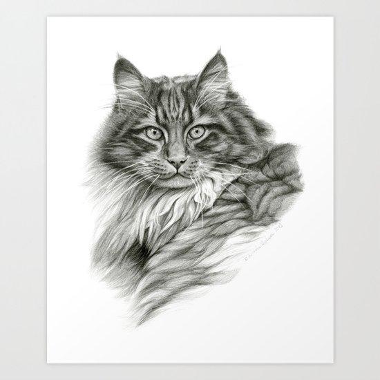 Ginger Cat G2012-052 Art Print