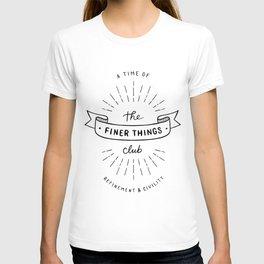 Finer Things Black & White T-shirt