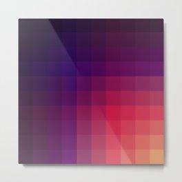 Pink Color Gradint Pattern Valravn Metal Print