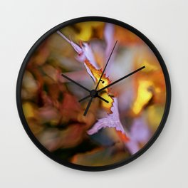 On a Leaf Edge Wall Clock