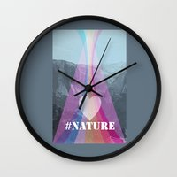 instagram Wall Clocks featuring Instagram moment by Oh! My darlink
