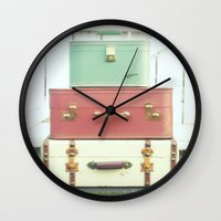 journey Wall Clocks featuring Journey by simplyhue