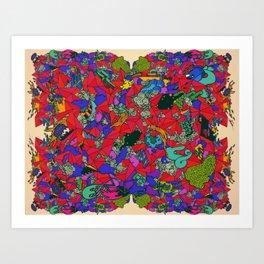Earths Crowded Feelings Art Print
