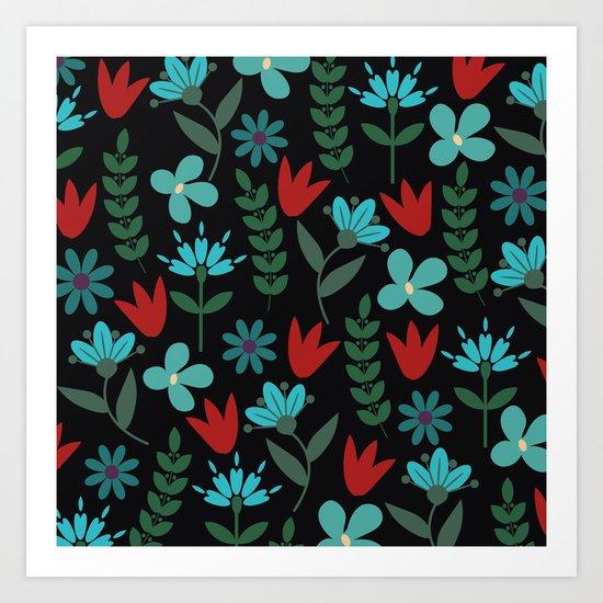 Flower Pattern XV Art Print
