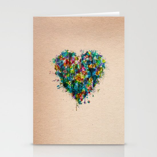 Heart Splatter Stationery Cards