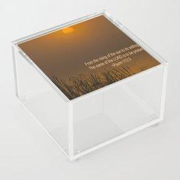 Psalm 113:3 Sunrise Acrylic Box