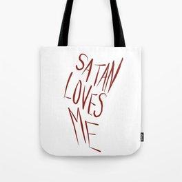 'Satan Loves Me' Tote Bag