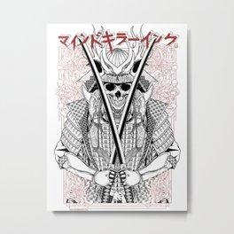 MKI Samurai ( WHITE ) Metal Print