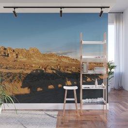 Sunset with shades and lamas Wall Mural