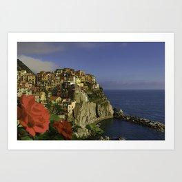 Postcard Perfect Manarola Italy Art Print
