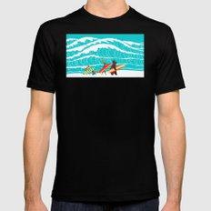 Summer Surf Mens Fitted Tee Black MEDIUM