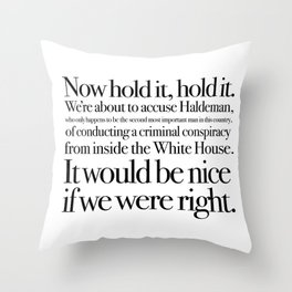 quoting Hollywood 1 Throw Pillow