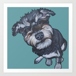 Benji the Schnoodle Art Print