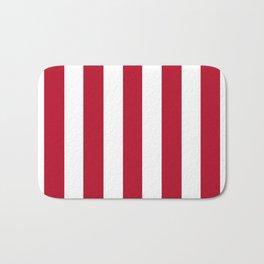Cadmium purple red - solid color - white vertical lines pattern Bath Mat