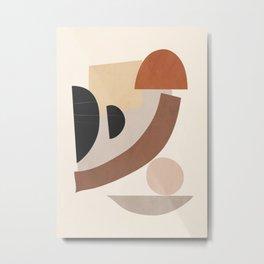 Minimal Abstrac Shapes 9 Metal Print