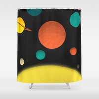 solar system Shower Curtains featuring Solar system by Sarajea