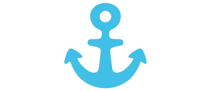 Blue Anchor Emoji Coffee Mug