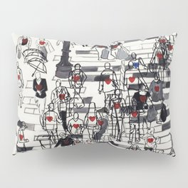 Hearts on the Move Pillow Sham