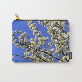 Blue Sky Pear Blossom Carry-All Pouch