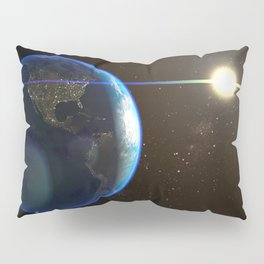 Night Lighted Earth from space Pillow Sham
