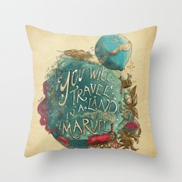 Jules Verne Throw Pillow