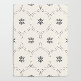 WILDFLOWER JASMIN GREY Poster