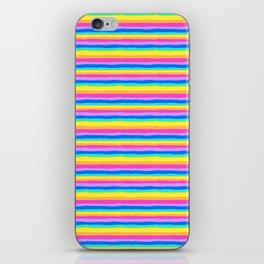 Rainbow Stripe Pattern iPhone Skin