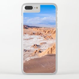 Valle de la Luna in San Pedro de Atacama, Chile Clear iPhone Case