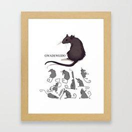Feeling Ratty Framed Art Print