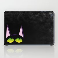 black cat iPad Cases featuring Black cat  by AhaC