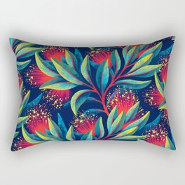 Pohutukawa - Red / Green Rectangular Pillow