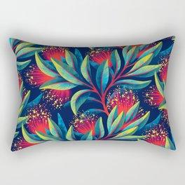 Pohutukawa - Red / Green Rectangular Pillow