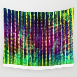 Syntax (Yellow + Green) Wall Tapestry