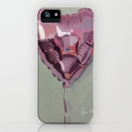 Pink Heart Balloon iPhone Case