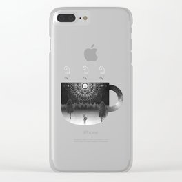 Midnight Coffee Clear iPhone Case
