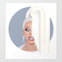 rupaul Art Prints featuring Humble Gal by Dezignjk (Justin Kohout)